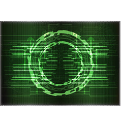 high tech set of lines on a green background vector image