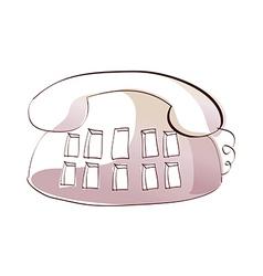 Icon telephone vector