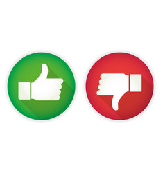 icon thumb up and thumb down like and dislike vector image