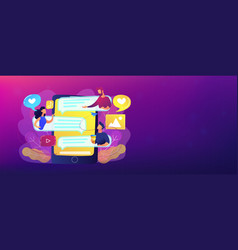 Internet forum header banner vector