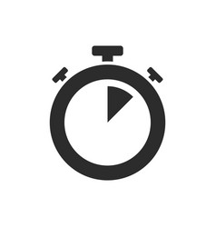 Isolated stopwatch icon five past on a white vector