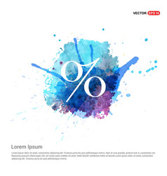 labels percent price icon - watercolor background vector image