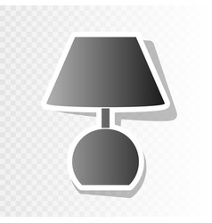 lamp sign new year blackish vector image