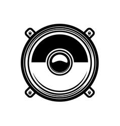 load speaker in engraving style design element vector image