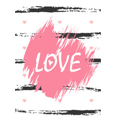 love word vertical greeting card love lettering vector image