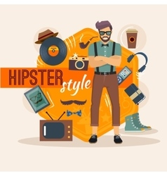 Male Hipster Character Pack vector image