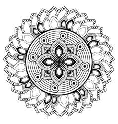 Mandale of bohemic and ornament concept vector