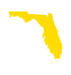 map of florida vector image
