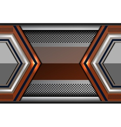 Metal geometric abstract technology backgrounds vector