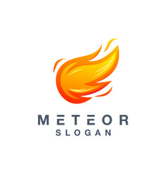 Meteor logo design ready to use for your company vector