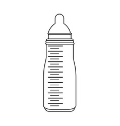 Milk formula bottle baby or shower related ico vector