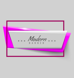 new modern or trendy banner vector image