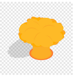 Nuclear explosion isometric icon vector