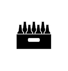 pack of beer bottles flat icon vector image