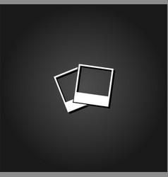 photos icon flat vector image
