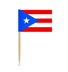 Puerto rico flag toothpick on white background vector