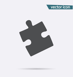 puzzle icon flat strategy symbol isolated vector image