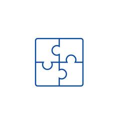 puzzle line icon concept puzzle flat vector image