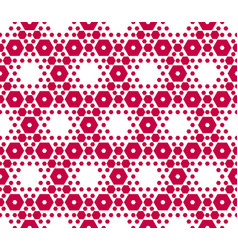 Red and white hexagons geometric texture vector