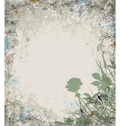 Retro grass background vector