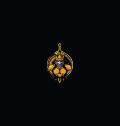 royal king esport logo icon vector image