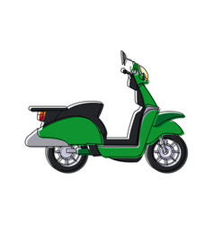 Scooter transport motorcycle fast delivery icon vector