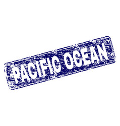 Scratched pacific ocean framed rounded rectangle vector