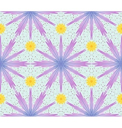 Seamless pattern with cornflowers vector image
