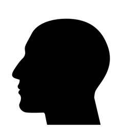 Silhouette a head vector