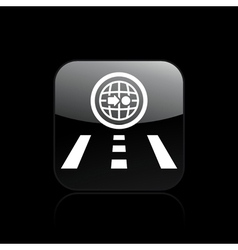single navigate icon vector image