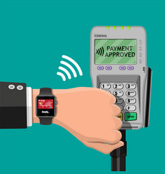 smart watch contactless payments vector image