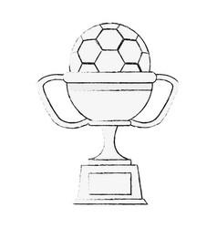 soccer trophy cup symbol vector image