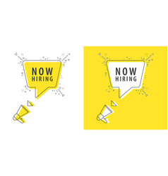 speaker and tag now hiring vector image
