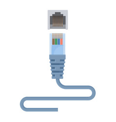 special ethernet cable composed of connector and vector image