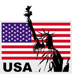 statue of liberty usa vector image vector image