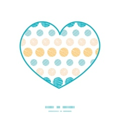 texture circles stripes abstract heart silhouette vector image