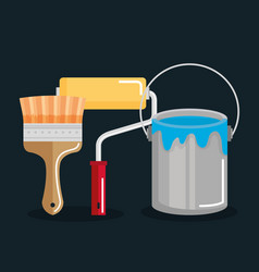 Tools repair support equipment work objects vector