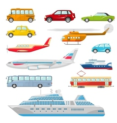 Transport Icons Flat vector image