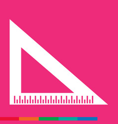 triangle ruler icon sign design vector image