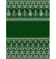 ugly sweater merry christmas party ornament vector image