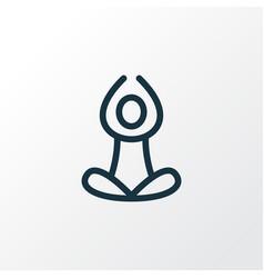 Yoga icon line symbol premium quality isolated vector