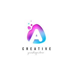 a letter dots logo design with oval shape vector image vector image