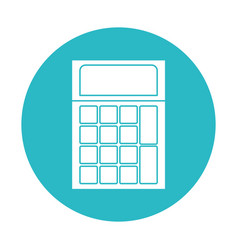 Circle light blue with calculator icon vector