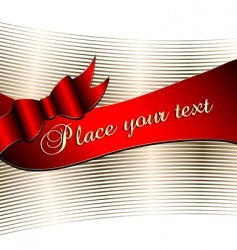 decorative background with ribbon vector image vector image