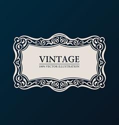 Label framework Vintage banner decor vector image
