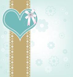retro heart design background vector image vector image