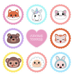 Set of tags with animal theme set of tags with vector