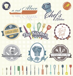 Chef Labels Color vector image vector image