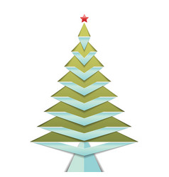 christmas tree isolated on white background vector image