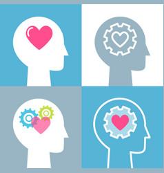 emotional intelligence feeling and mental health vector image